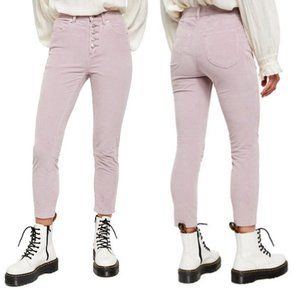 Free People Sun Chaser Corduroy Lilac Skinny Jeans